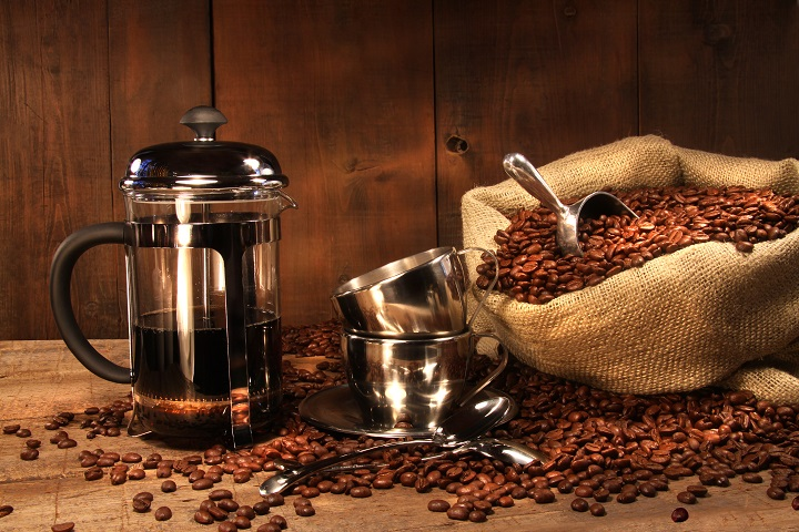 Tools for Making Coffee in a French Press - Coffee Beans