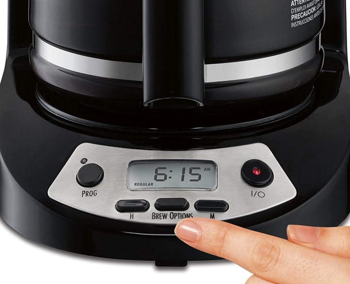 Buttons on Hamilton Beach Coffee Makers - Brew Strength